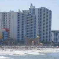 Daytona Ocean Walk Villas View from Pier towards Ocean Walk