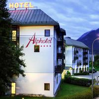 Alphotel Hotel Front - Evening/Night