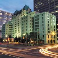 Lord Elgin Hotel Exterior at Dusk