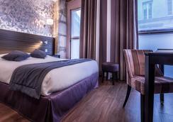 Hotel De Senlis - ปารีส - ห้องนอน